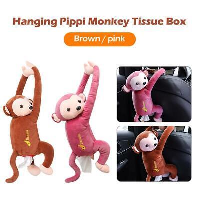 Portable Cartoon Monkey Tissue Box Home Car Paper Napkin Storage Container Decor
