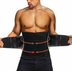Men-amp-Women-Sweat-Waist-Trainer-Back-Support-Fat-Burner-Shapewear-Cinchers-Belt-US