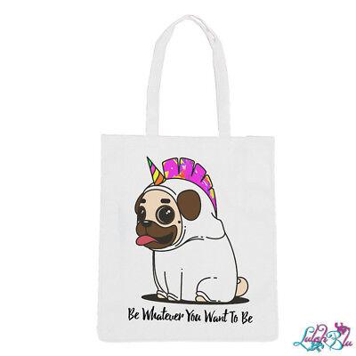 Cute Pug Puppy Animal Tote Shopper Bag For Life Shopping Dog Pet Funny E51