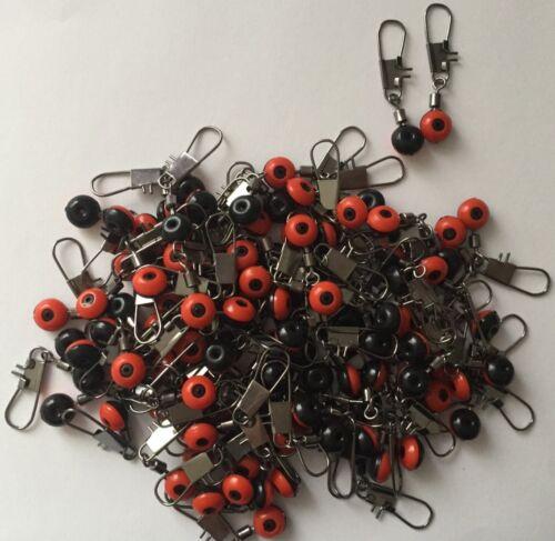 20 x Perlen Laufwirbel Wirbel  Posen Adapter mit Karabiner Gr-L