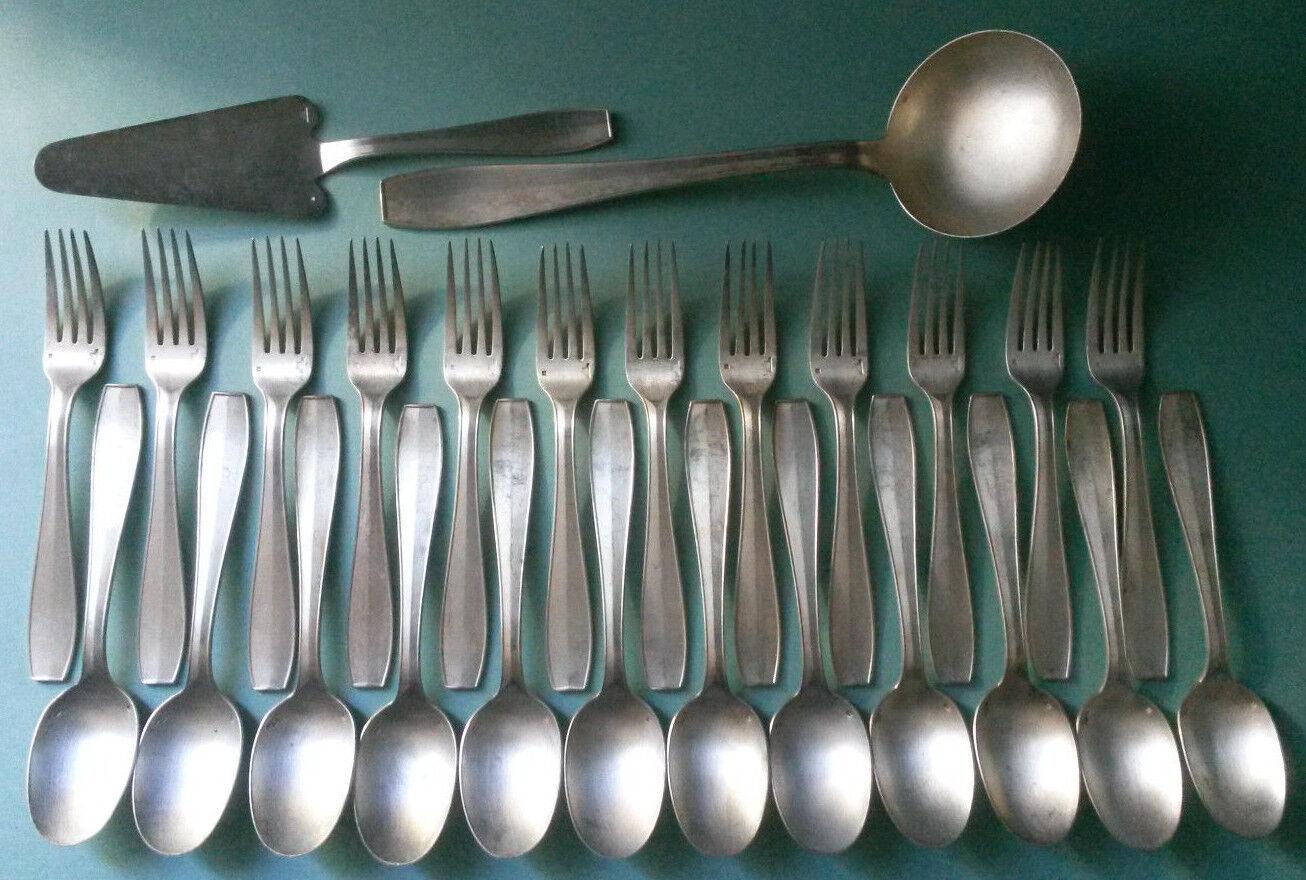Christofle Atlas Luc Lanel 12 fourchettes 12 cuillères Louche Pelle a tarte