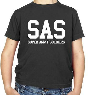 8 Colours Kids // Childrens T-Shirt British Forces SAS Super Army Soldiers