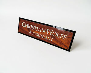 Personalised-Desk-Name-Sign-Office-Plate-Custom-Engraved-Plaque-Mahogany-Logo