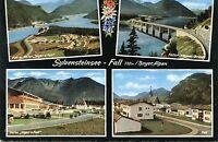 Alte Postkarte - Sylvensteinsee-Fall