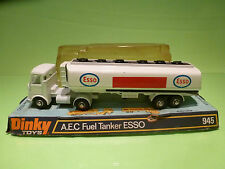DINKY TOYS  945 AEC A.E.C. FUEL TANKER ESSO - RARE SELTEN - GOOD IN BLISTER