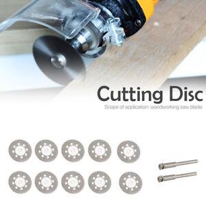 10PCS-Mini-Diamant-Coupe-Disque-Roue-Lame-de-Scie-Set-Pour-Dremel-Rotatif-Outil