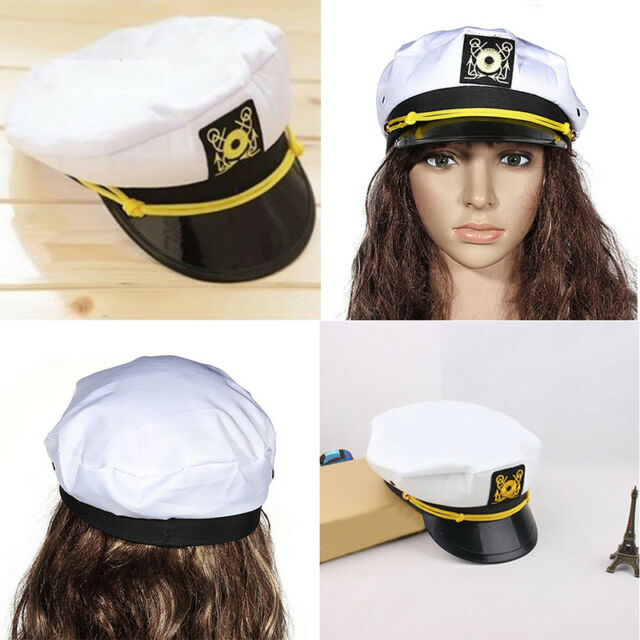 7a2d73e52b18a Unisex Skipper Ship Sailor Navy Yacht Military Captain Nautical Hat  CapCostume