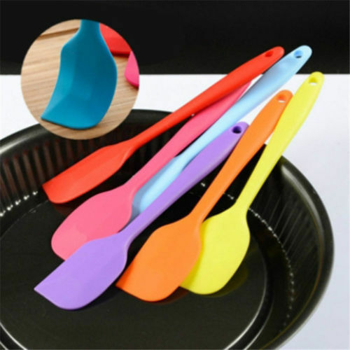 Silicone Scraper Brush Cake Cream Butter Spatula Mixing Batter Baking Utensil US
