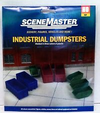 HO Scale Walthers SceneMaster 949-4106 Industrial Dumpsters (8) pcs