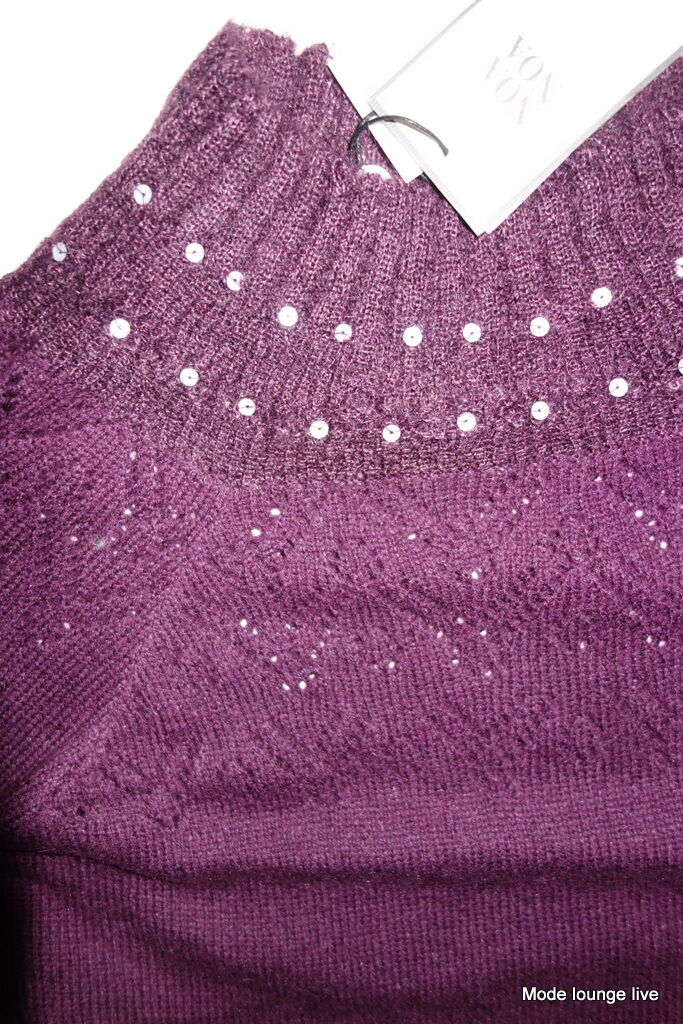 Knitted Jumper Wool NOA NOA NOA NOA Purple Cashmere d8f4b6