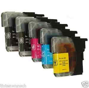 5-INK-CARTRIDGES-FOR-BROTHER-MFC-J-410W-MFC-J-415-W-DCP-J125-LC985-COMPATIBLE
