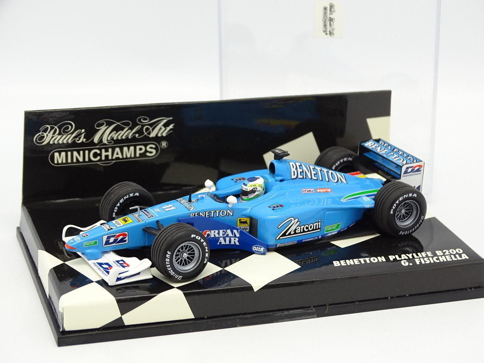 Minichamps 1 43 43 43 - F1 Benetton Playlife B200 Fisichella 0b0392