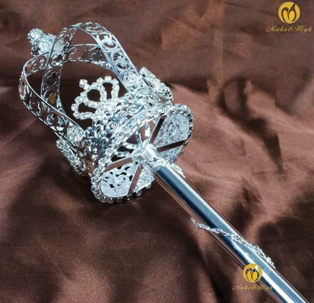 King Queen Royal Staff Halloween Costume Wand Accessory Theater Prop Decoration