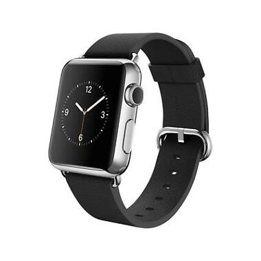 Apple 38MM Stainless Steel Watch w/Leather Band