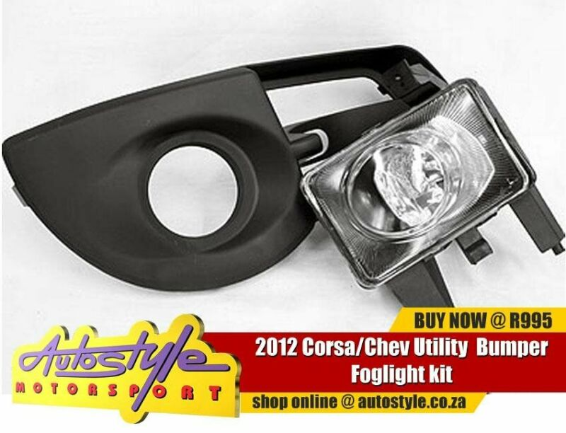 Corsa Chev Utility 2012 Bumper Foglight kit - includes all wirings, switch and bumper grill - sold a