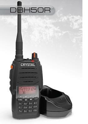 CRYSTAL 5 WATT 80 CHANNEL UHF HANDHELD RADIO 2 WAY RADIO CB DIE CAST CHASSIS