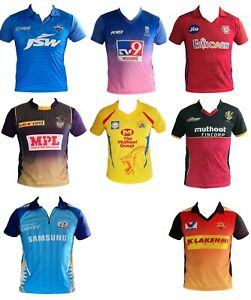 Ipl Cricket 2020 2019 Jersey S Shirt T20 Cricket India Australia Ebay