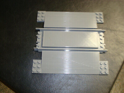 Lego RC Railway TRAIN Level Crossing Track Rail GREY