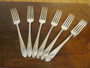 Oneida Queen Bess II Set 6 Dinner Gabeln Gemeinschaft Silverplate Bestecke Lot B