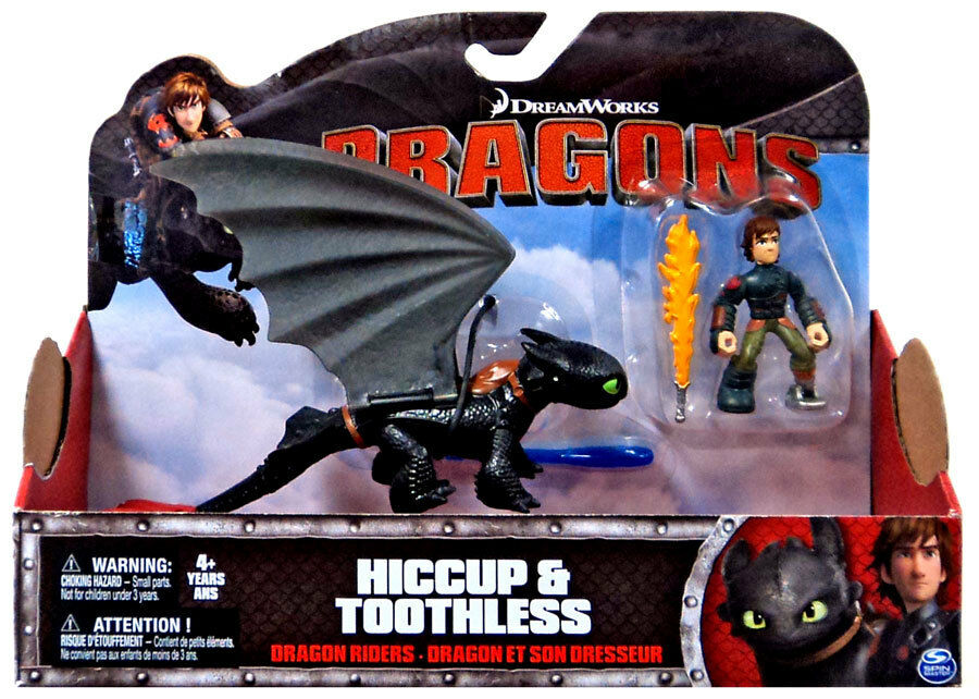 DRAGON RIDERS HICCUP AND TOOTHLESS TOOTHLESS TOOTHLESS DEFENDERS OF BERK HOW TO TRAIN DRAGON 2 PACK aa5