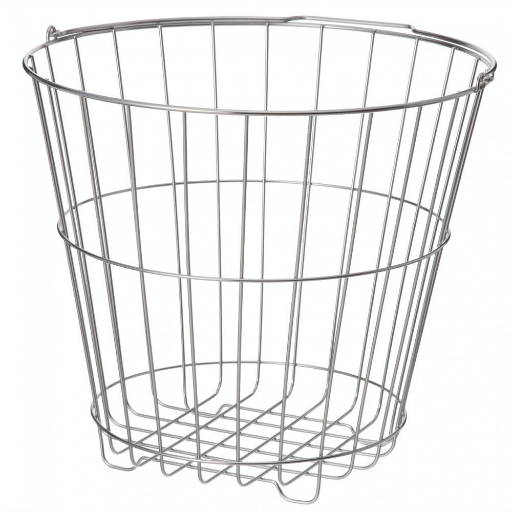 MUJI Stainless steel laundry basket Large D42×H37.5cm Durable capacity 7kg MoMA