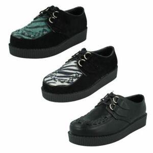 Femmes Spot On Creeper Style Chaussures Plateforme | eBay