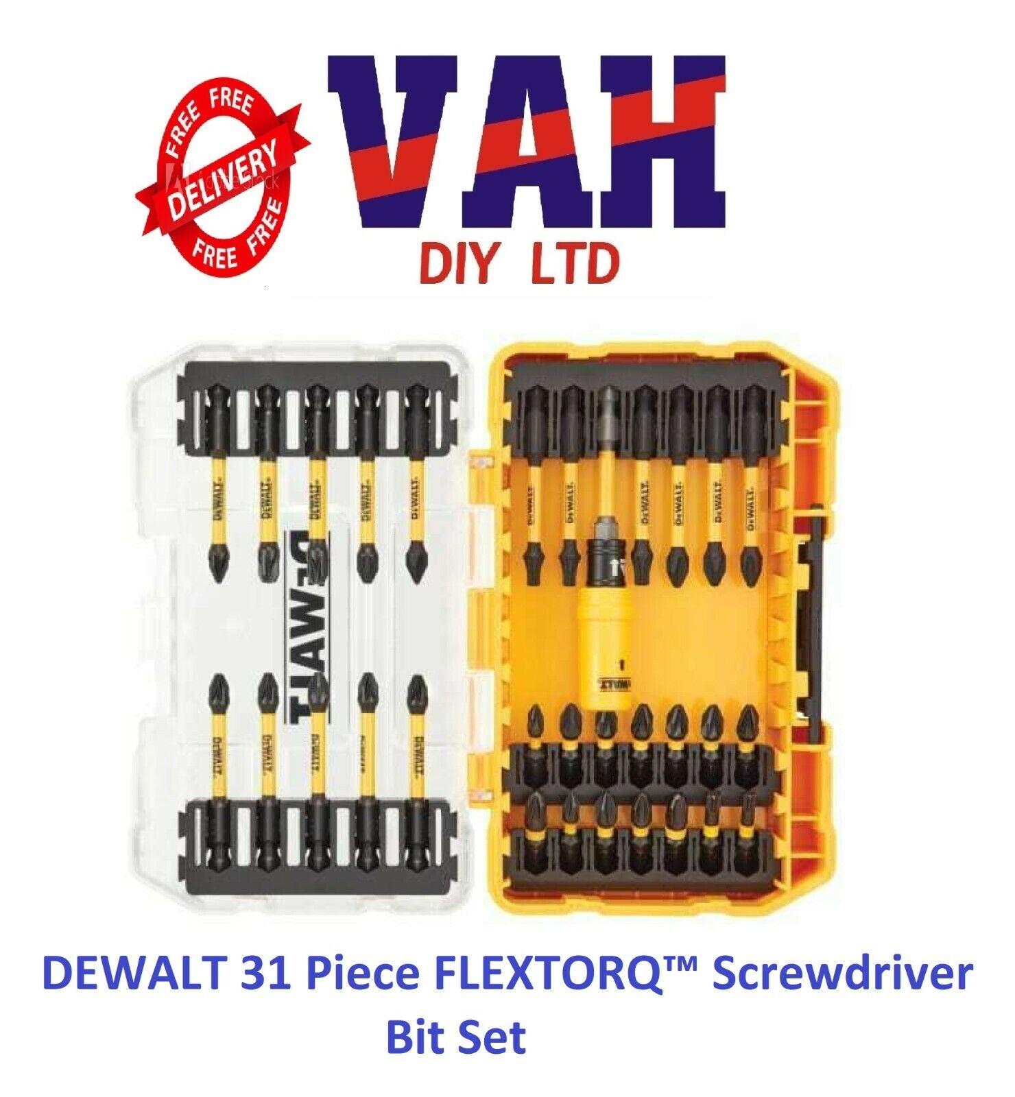 DEWALT 31 Pieza FLEXTORQ ™ destornillador conjunto de bits en un estuche + DT70737T-QZ TOUGH
