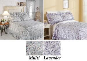 Queen-Floral-Or-Lavender-Plisse-Bedspread-Full-King-Floral-Plisse-Bed-Spread
