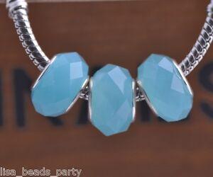 10pcs-15x9mm-Lampwork-Glass-Faceted-European-Charm-Loose-Beads-Jade-Lt-Blue
