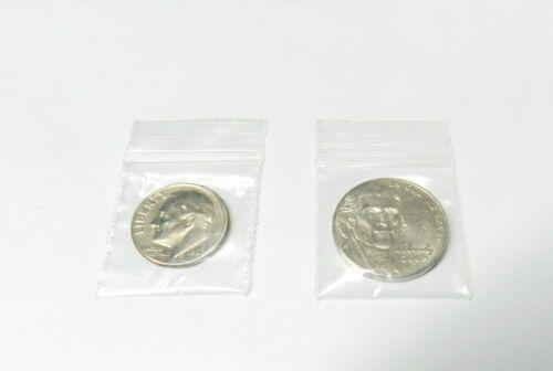 "1000 Ziplock Bags Reclosable 2mil Clear Poly 1/"" x 1/"" Zip Seal Mini 1x1 Baggies"