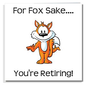 Retraite Carte Drole Mignon Laissant Humour Blague Travail Bureau Fox Bye Ami S005 Ebay