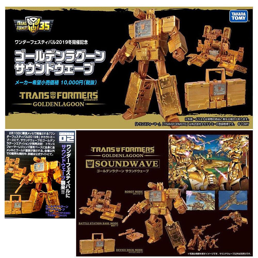(In-Hand) Takara Transformers golden Lagoon Soundwave Exclusive Ver Figure New