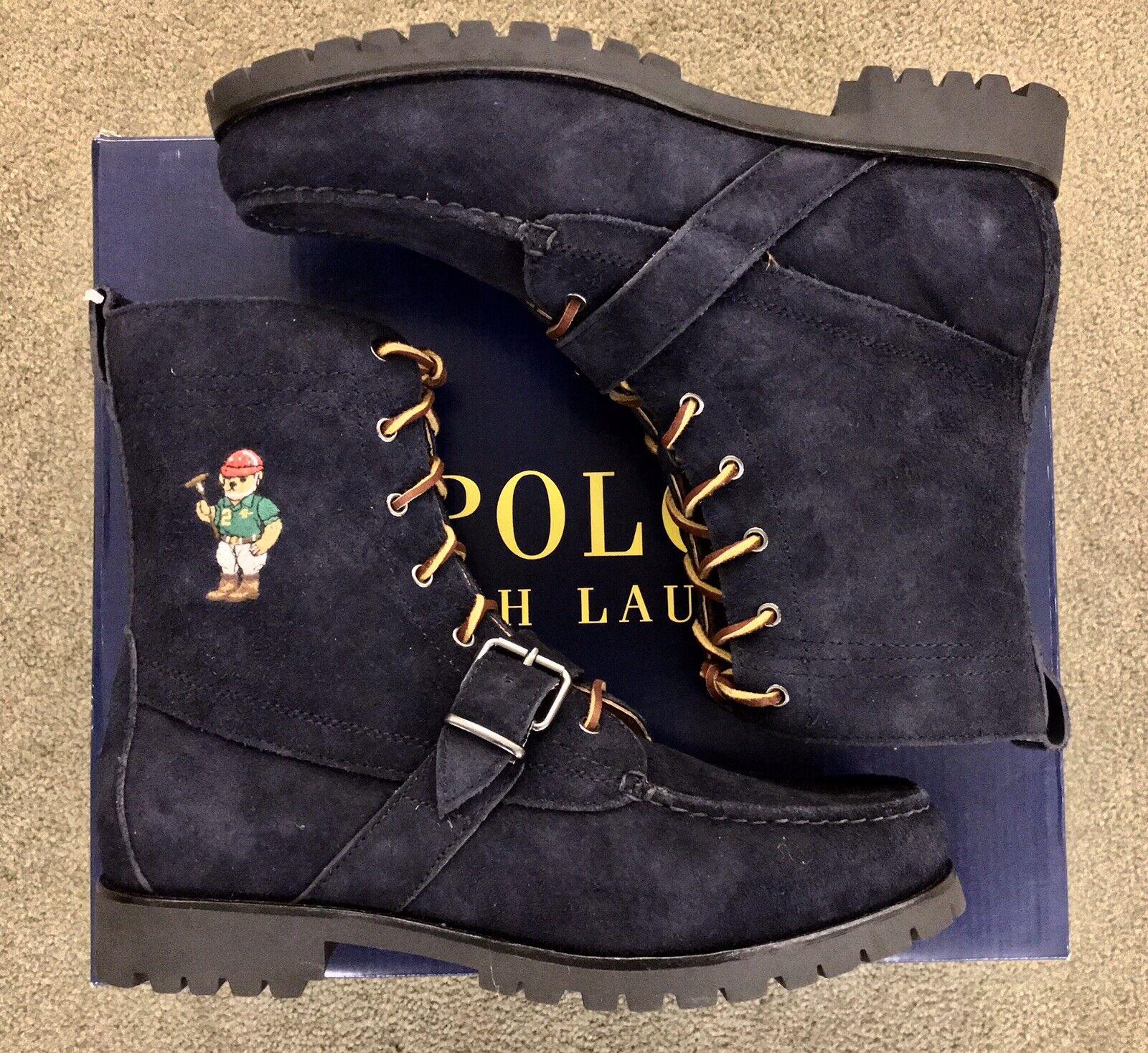 NWT POLO RALPH LAUREN Polo Bear Ranger Men's Navy Stiefel  Größe 10.5   275