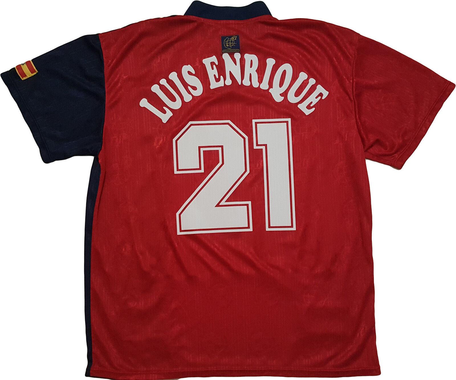 Maglia spagna Euro 1996 Home Home Home Shirt Euro Luis Enrique  21 Barca jersey camiseta 3e9