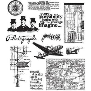 Tim Holtz Rubber Stamp Set Crazy Talk CMS 236