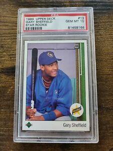 1989 Upper Deck GARY SHEFFIELD Rookie RC psa 10