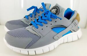 c0fb9aa14cad NIKE AIR HUARACHE FREE RUN 487654-014 Stealth   Stealth-White ...