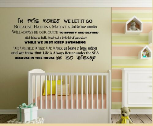 In This House We Do Disney Wall Art Stickers Landscape Decals House Rules Mural