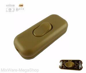 Schnur-Zwischenschalter-3-polig-2-6-A-250-V-Passt-fuer-LED-SMD-gold