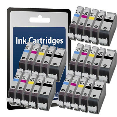 25 Chipped Ink Cartridges for Canon MP540 MP550 MP560