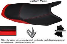 BRIGHT RED & BLACK CUSTOM FITS YAMAHA YBR 10-13 125 DUAL LEATHER SEAT COVER