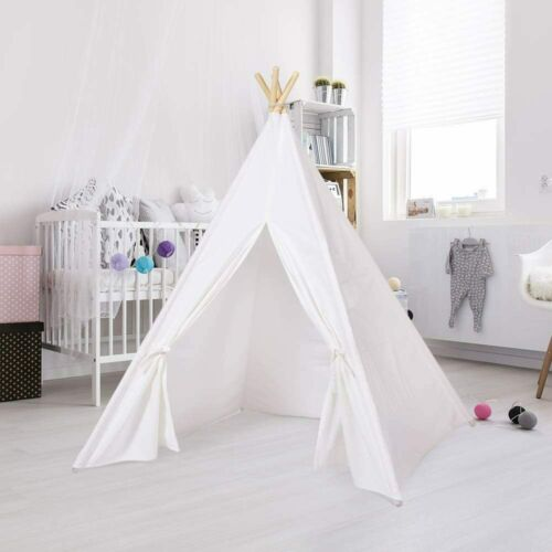 Kid Play Tent Indian Teepee Camping Sleeping Hideout Shelter Indoor Outdoor Gift
