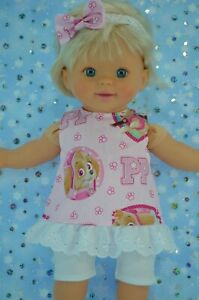 PnW-Dolls-Clothes-For-13-034-Little-Mommy-Baby-Alive-PATTERN-TOP-LEGGINGS-HEADBAND