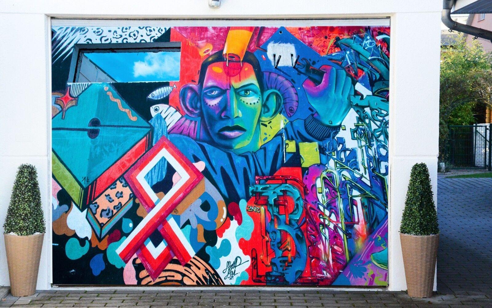 3D Graffiti 833 Garage Door Murals Wall Print Decal Wall AJ WALLPAPER AU Carly