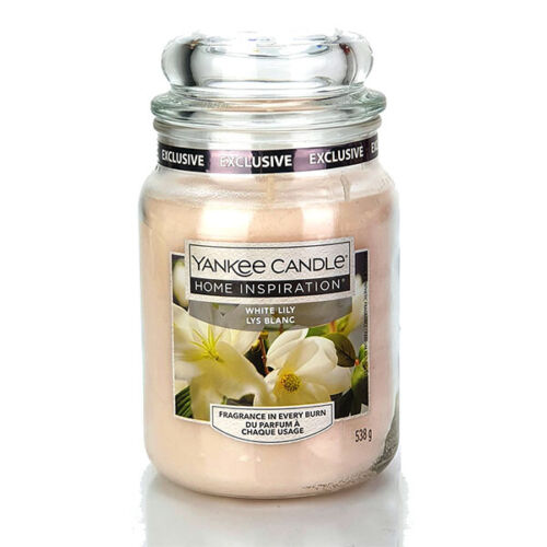 Official Yankee Candle Scent Home Inspiration White Lily Signature 538 Large Jar