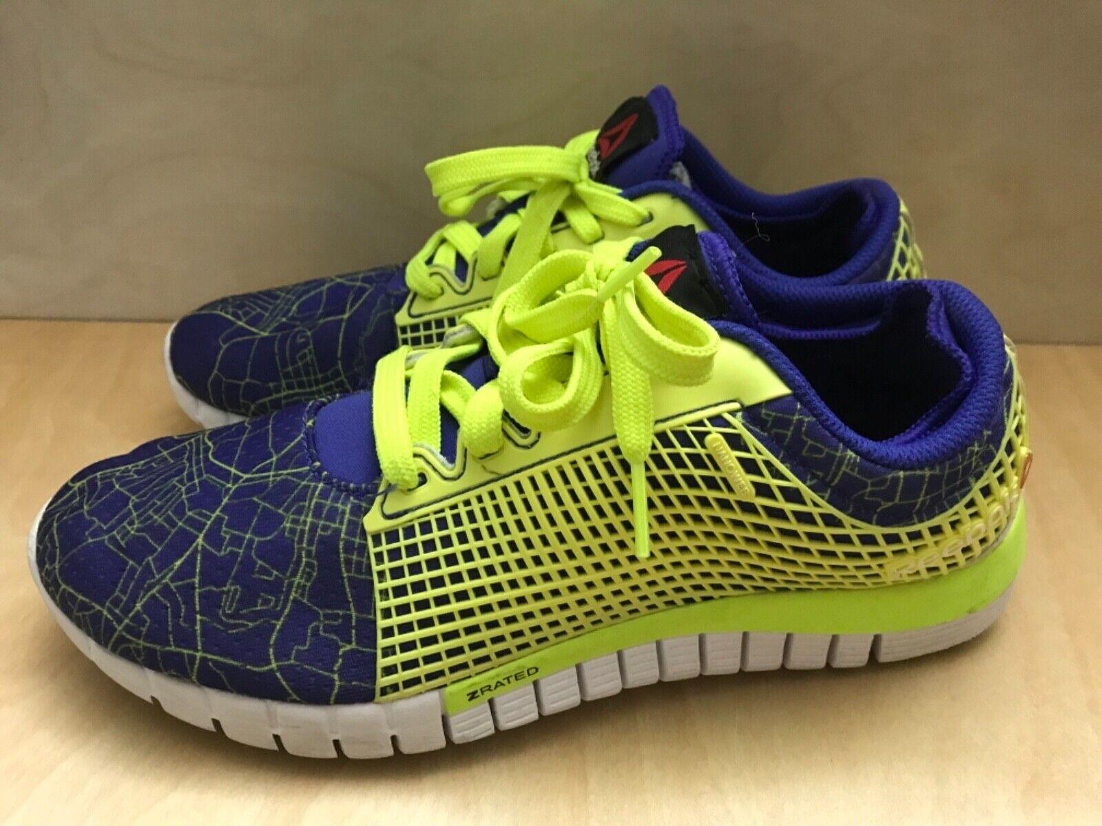 Womens ZRATED Reebok runners yellow bluee size 8