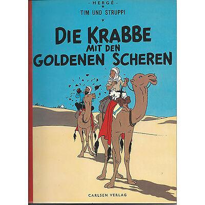 """Tim und Struppi - Stoffrücken """" Die Krabbe mit den goldenen Scheren """" in Top"""