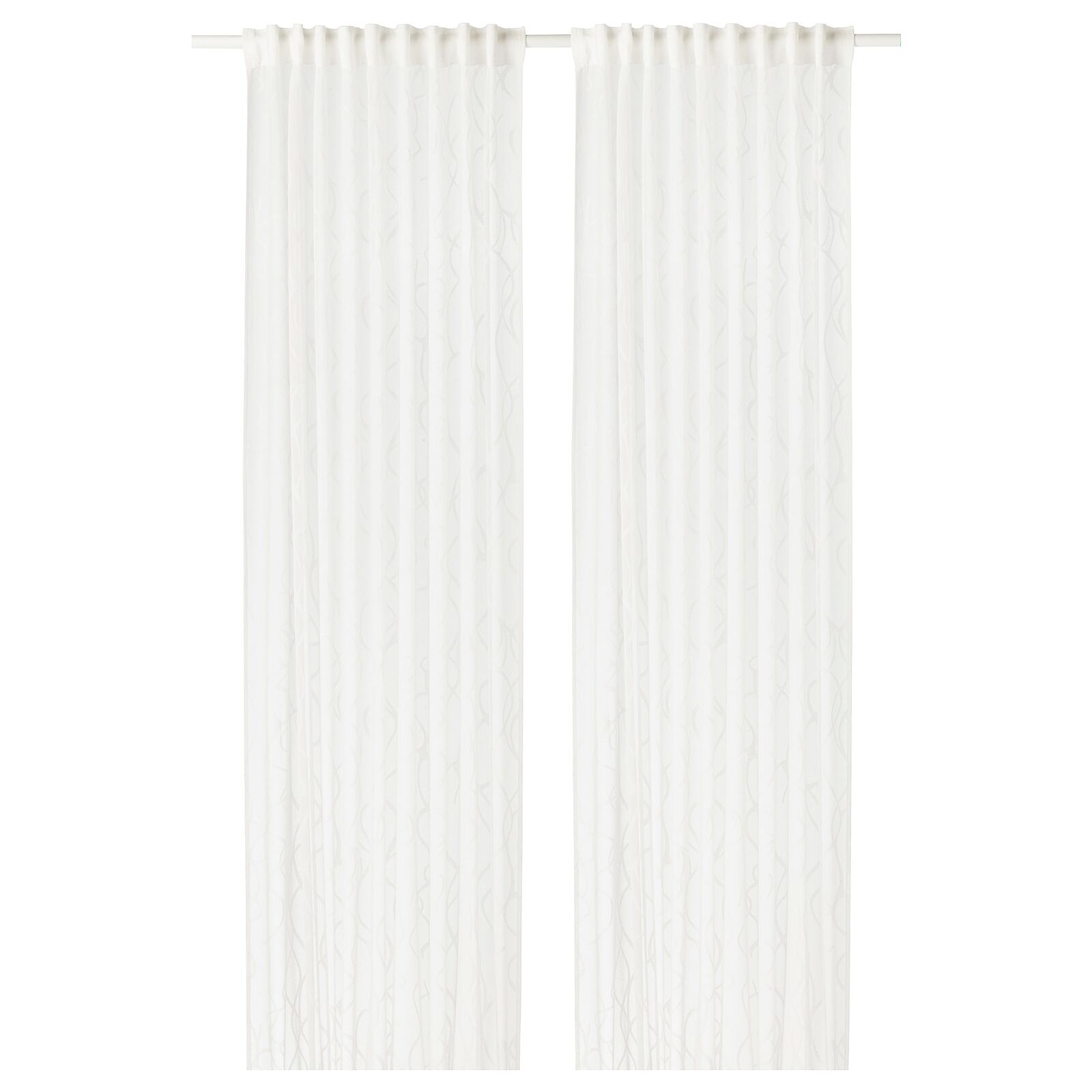 1 Pair IKEA Sheer Sheer Sheer Curtains Bedroom Living Room Window Blinds 250x145cm Weiß 1f2d11