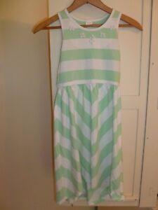 GYMBOREE-Girls-7-Fruit-Punch-SUN-DRESS-Mint-Green-amp-White-Striped-GEMS-Cotton