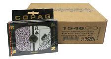 12 UNITS COPAG 100% Plastic Playing Card Poker Jumbo Index Purple/Grey Bulk